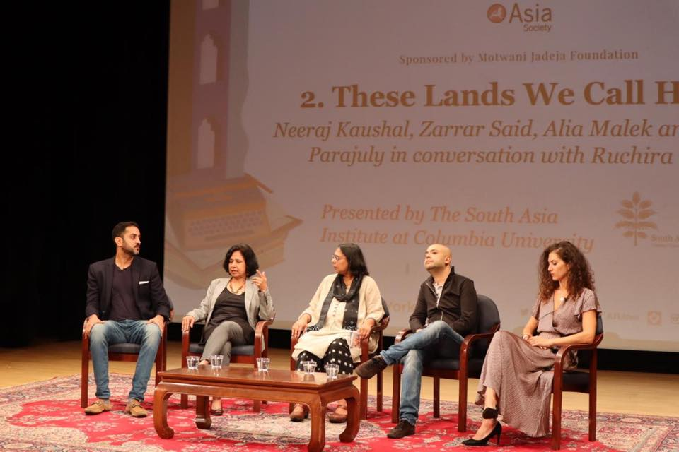 These Lands We Call Home: Neeraj Kaushal, Zarrar Said, Alia Malek and Prajwal Parajuly in conversation with Ruchira Gupta