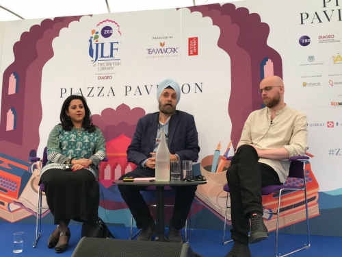 ZEE JLF at The British Library Saturday 15 Session 19: Amritsar and the Patient Assassin Anita Anand, Kim A. Wagner chaired by Navtej Sarna