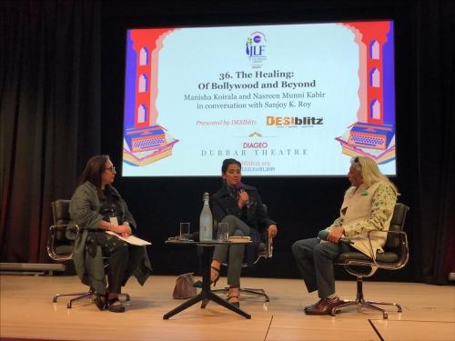 The Healing: Of Bollywood and Beyond  Manisha Koirala and Nasreen Munni Kabir in conversation with Sanjoy K. Roy
