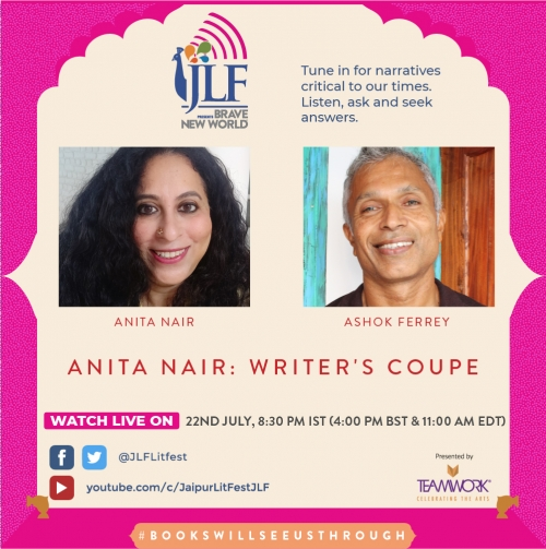 Writer's Coupé - Anita Nair in conversation with Ashok Ferrey